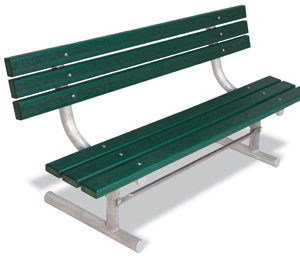 Traditional Park Bench with Back