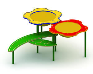 Double-Bowl Flower Sand and Water Table
