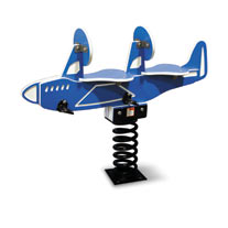 Double Seat Airplane Spring Rider