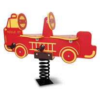 Double Seat Fire Truck Spring Rider