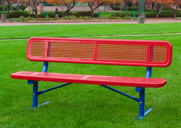 Extra Heavy-Duty Team Bench with Back